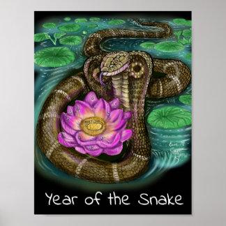 Chinesisches Tierkreis-Jahr der Schlange Poster