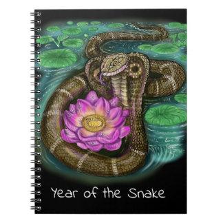Chinesisches Tierkreis-Jahr der Schlange Spiral Notizblock