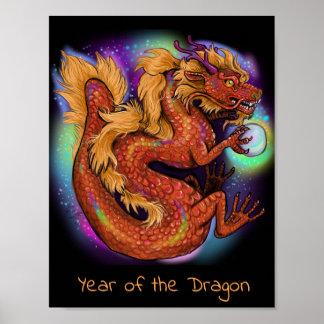 Chinesisches Tierkreis-Jahr des Drachen Poster