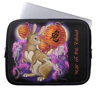 Chinesisches Tierkreis-Jahr des Kaninchens Laptopschutzhülle