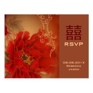 Chinesisches UAWG Hochzeit des roten Postkarte
