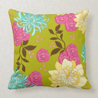 Chinoiserie-Blumenmuster-Smaragdgrün Kissen