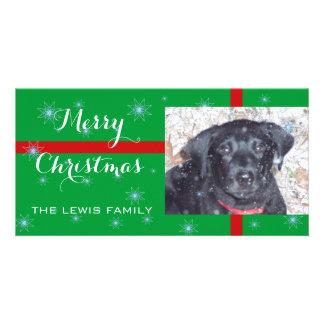 Chiot de Joyeux Noël - carte photo Photocarte Personnalisée