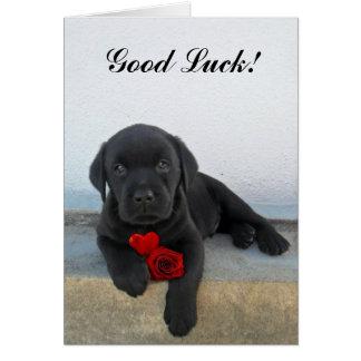 Chiot de Labrador de bonne chance Carte De Vœux