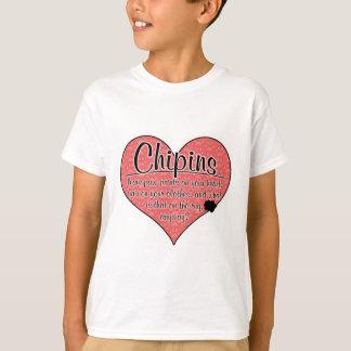 Chipin Tatze druckt Hunde Humor T-Shirt