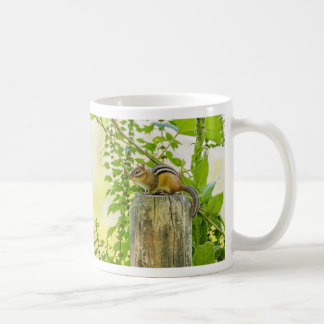 Chipmunk auf einem Zaun-Posten Kaffeetasse