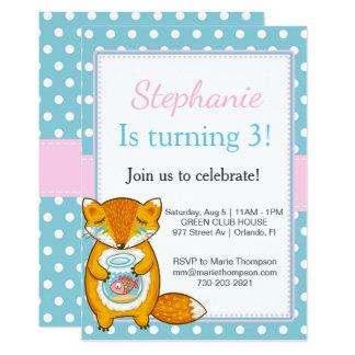 Chipmunk Birthday gehe ich invitation kid child Karte