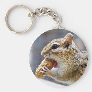 Chipmunk mit einer Erdnuss Schlüsselanhänger