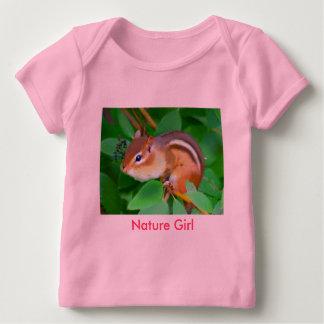 Chipmunk onsie, Natur-Mädchen Baby T-Shirt