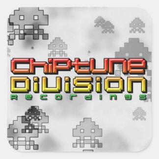 Chiptune Abteilungs-Aufnahmen Quadratischer Aufkleber