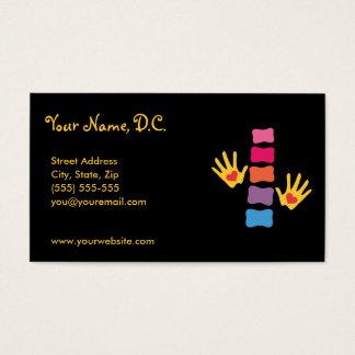 Chiropraktik-Hände u. Dorn-Visitenkarten Visitenkarte