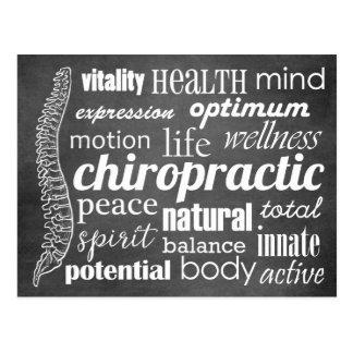 Chiropraktik-Wort-Collagen-Reaktivierungs-Rückruf Postkarte