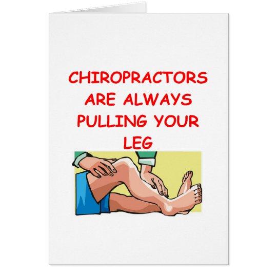 Chiropraktoren Grußkarte
