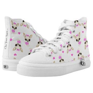 ChiYum Yum hoch Spitzenturnschuhe Hoch-geschnittene Sneaker