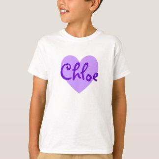 Chloe in Lila T-Shirt