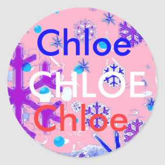 Chloe Namensaufkleber