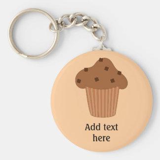 Choc Chip-Muffinbild mit personalisiertem Text Schlüsselanhänger