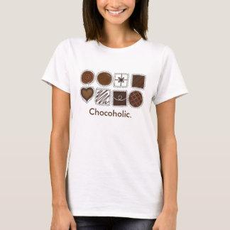 Chocoholic Kasten des Schokoladen-Praline-T-Stücks T-Shirt
