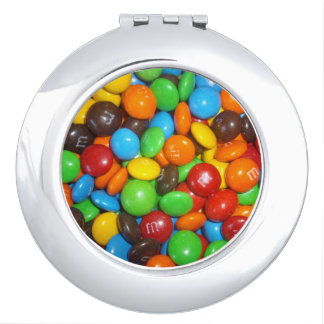 Chocolate_Colorful_Candy, _Compact-Mirror. Taschenspiegel