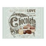 chocolats français vintages modernes carte postale