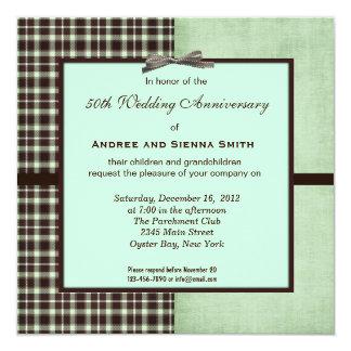 ChocoMint 50. Hochzeitstag Quadratische 13,3 Cm Einladungskarte