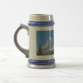 Chope À Bière Bière folle/Stein de Matterhorn de montagne