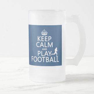 Chope Givrée Gardez le football de calme et de jeu (le football