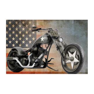 Chopper hergestellt in den USA Acryldruck