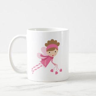 Chouette épervière féerique rose tasse