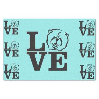 Chow-Chow Liebe-Seidenpapier Seidenpapier
