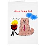 Chow-Chow-rote Vati-Karte