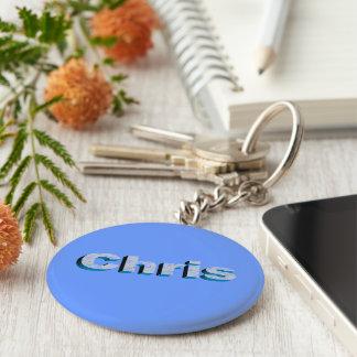 Chris blaue Schlüsselkette Schlüsselanhänger