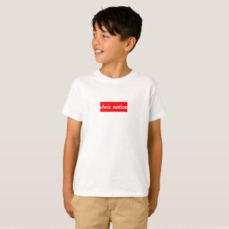 Chris-Nations-Kasten-Logo scherzt T-Shirt