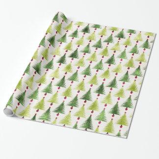 Chrismas Feiertags-Weihnachtsbaum-multi Grüntöne Geschenkpapierrolle