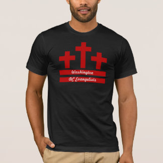 Christen in DC - drei Kreuze u. die DC-Flagge T-Shirt