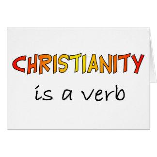 Christentum ist ein Verb Karte