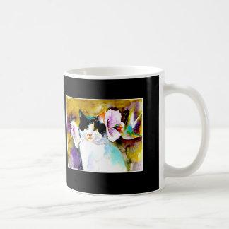"""Christeve die Katze mit Kolibri-"" Druck an Tasse"