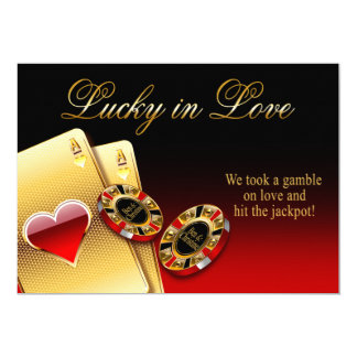 Christine3 Casino Wedding ASK FOR NAMES IN CHIPS Karte
