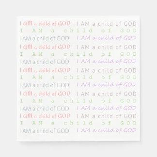 Christlich BIN ICH KIND VON GOTT Papierservietten