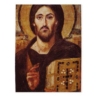 Christliche Ikone Jesuss Christus Pantocrator Postkarte