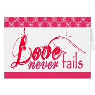 Christliche Liebe versagt nie Karte