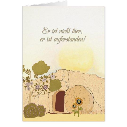 Christliche Ostern-Wünsche auf Deutsch (ihn wird Grußkarte