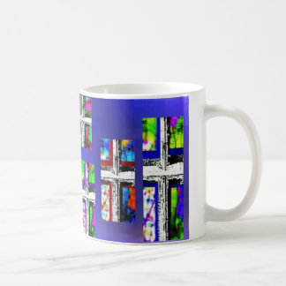 Christliche Quercollagen-multi Farbe durch Kaffeetasse