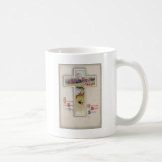 Christliche Quersingvogel-Teich-Feld-Lilie Kaffeetasse