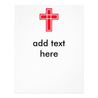 Christliche rote und weiße QuerFlyer für Ihren 21,6 X 27,9 Cm Flyer