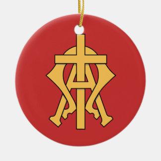 Christliche Symbol-Weihnachtsbaum-Verzierung Keramik Ornament