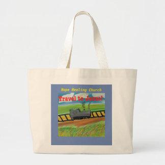 Christliche Taschen-Tasche Hoffnungs-heilende Jumbo Stoffbeutel