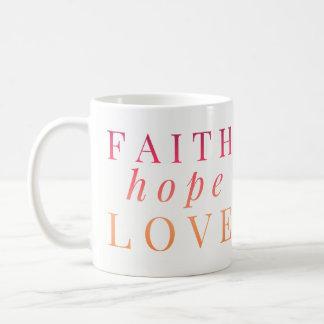 Christliche Tassen - Glauben-Hoffnungs-Liebe -
