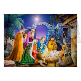 Christliche Weihnachtskarte Karte