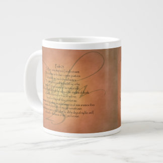 Christlicher Bibel-Vers des Psalm-23 KJV Jumbo-Mug